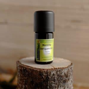 Huile essentielle bio et locale origine Bretagne menthe bergamote