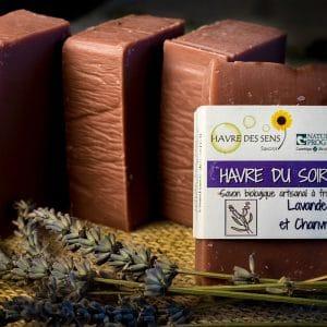 Savon bio d'artisan local parfumé à l'huile essentielle de lavande